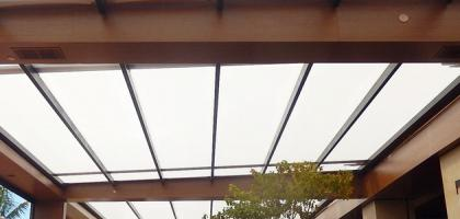 Retractable Fabric Roof Awning