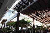Rectractable awning at The Setai Hotel Courtyard