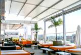 Retractable awning at Andaz Hotel | luxurious restaurant