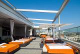 Retractable awning at Andaz Hotel | Roll-up curtains
