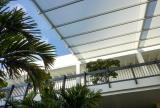 Retractable awning at Bal Harbour Shops, Florida