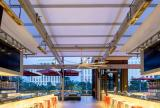Retractable awning at Hotel & Casino located on the Las Vegas