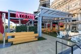 Retractable awning at Beer Park Las Vegas