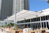 Retractable awning at The Beach Club Hallandale