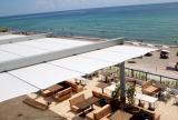 Retractable awning for luxury condominium