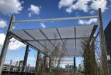 En-Fold retractable canopy system at rooftop restaurant
