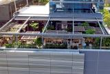 Retractable awning roof at Quinto La Huella Restaurant