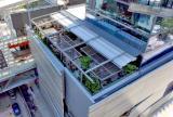 Retractable canopy system at Quinto La Huella Restaurant