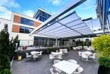 Rectractable awning at Radisson Blu Edwardian Hotel