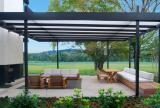 Rectractable canopy for a garden terrace
