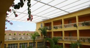 Retractable awning at Hotel Charleston