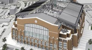 Retractable roof at Lucas Oil Stadium