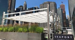 Retractable awning at Pier 17 Summer Pavilion – South Units