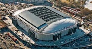 Retractable roof at Swedbank Arena