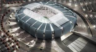 Retractable roof at University of Phoenix Stadium