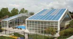 Retractable awning at for Pool Enclosure