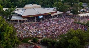 Retractable canopies at Merriweather Post Pavilion